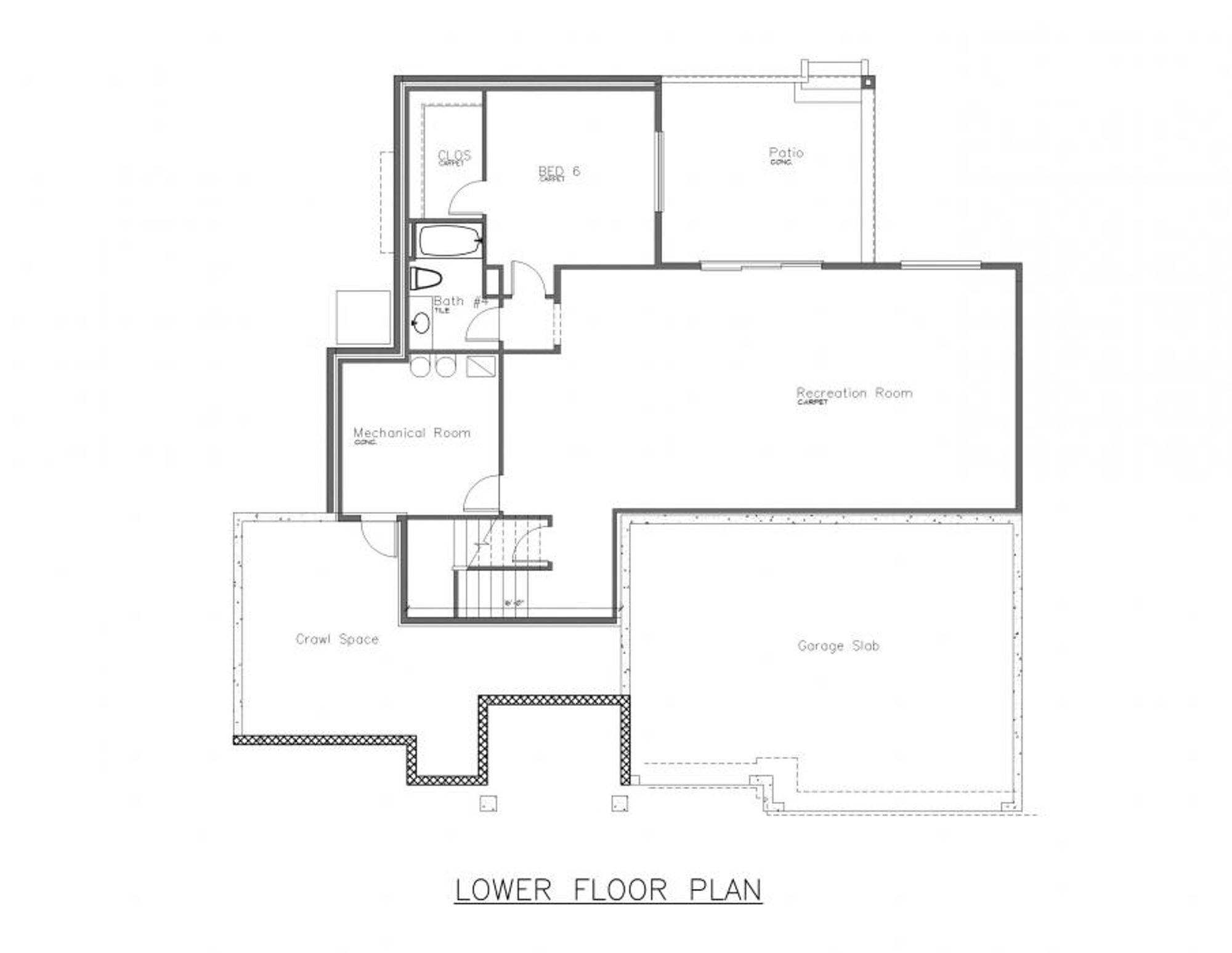 The Toulon Lower Floor Plan