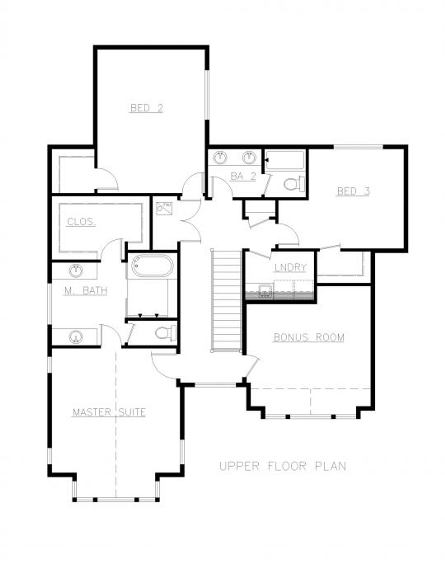 Toulouse Upper Floor Plan