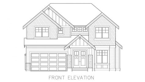 Whistler 2-Car Front Elevation