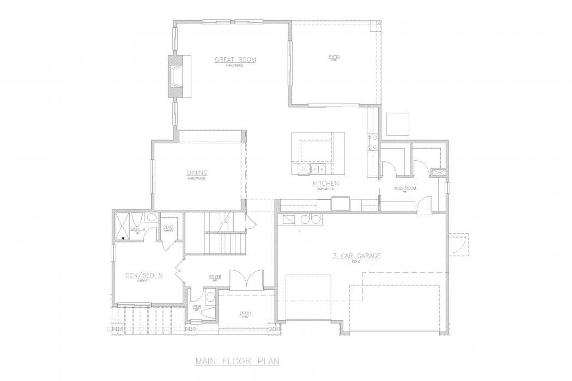 San Tropez B Main Floor Plan