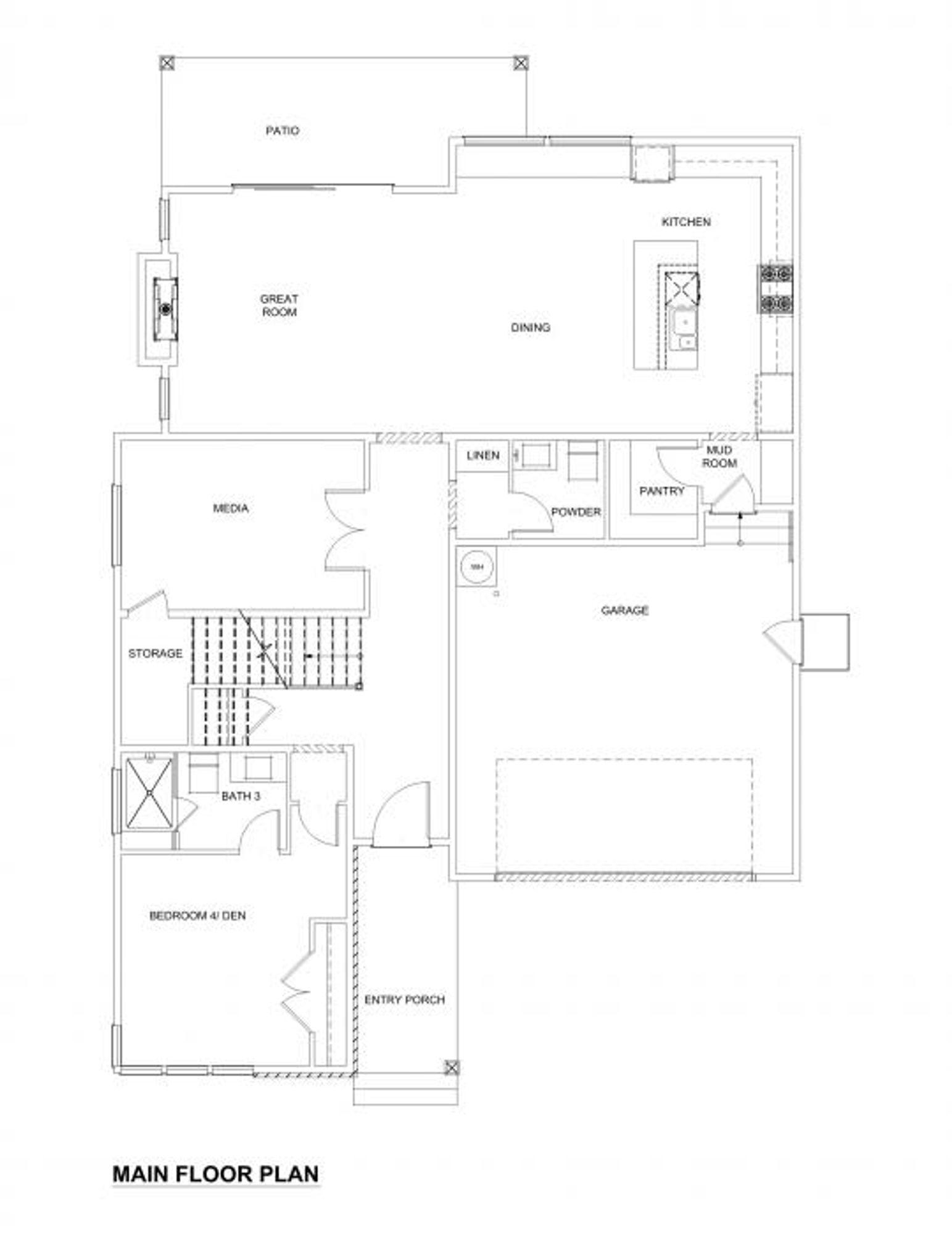 Caracas Main Floor Plan