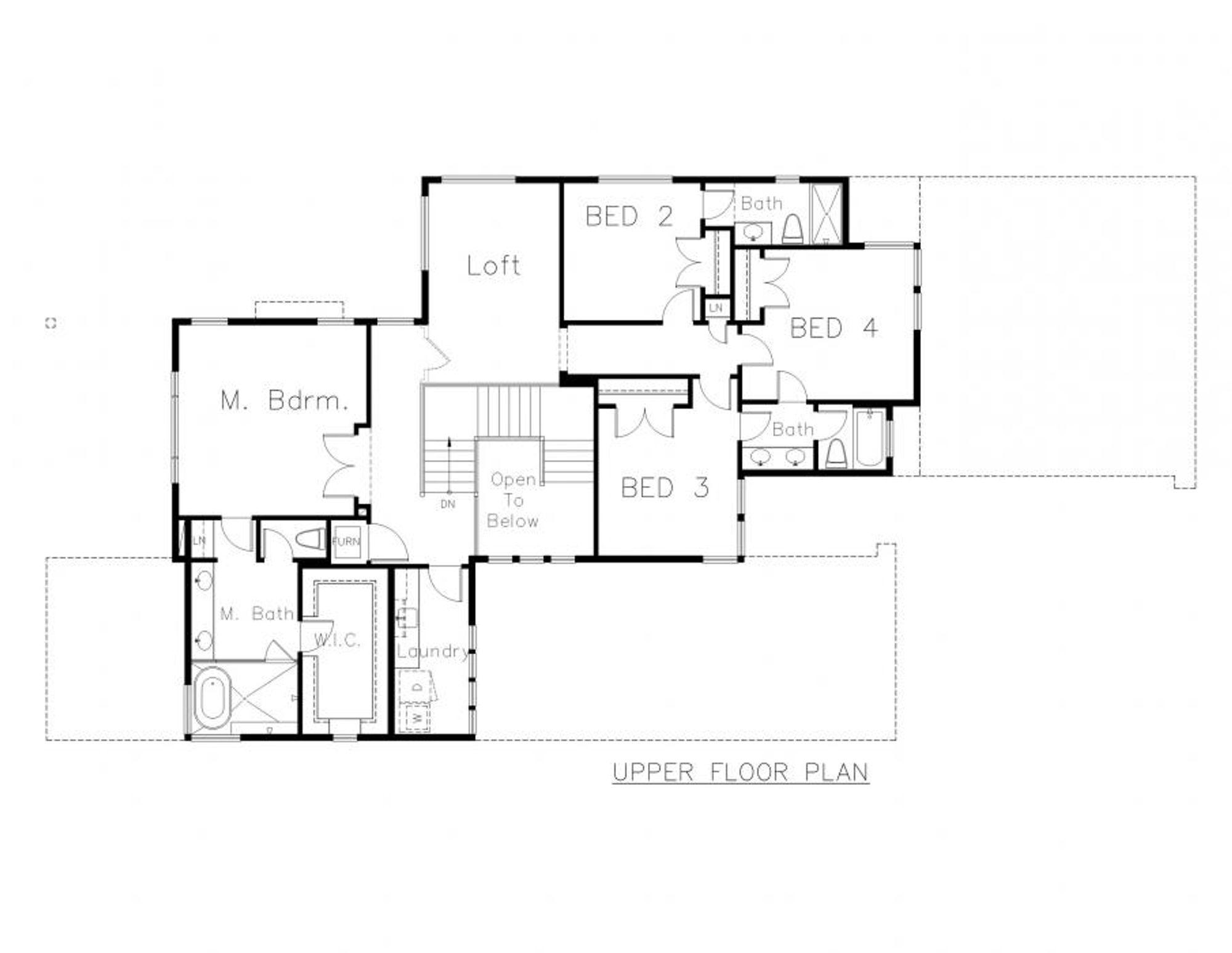 Sorrento Upper Floor Plan