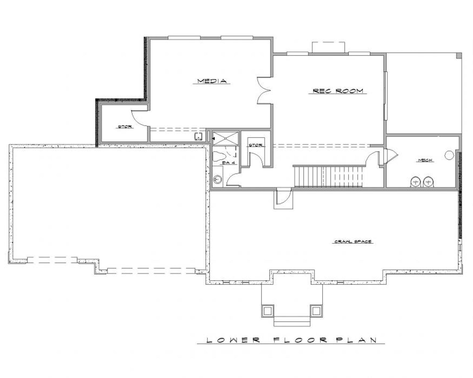 Calabria B Lower Floor Plan