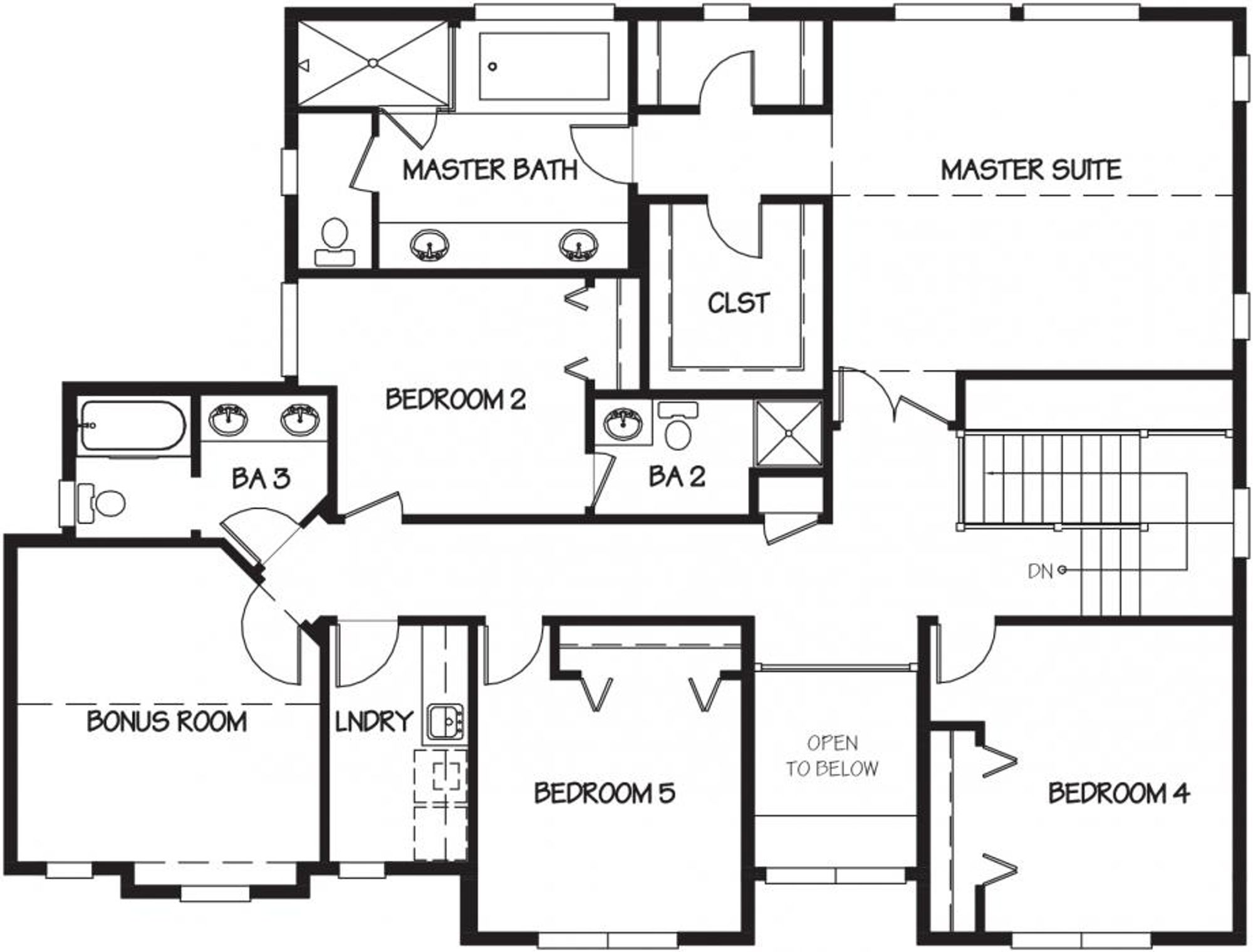 Venice Upper Floor Plan