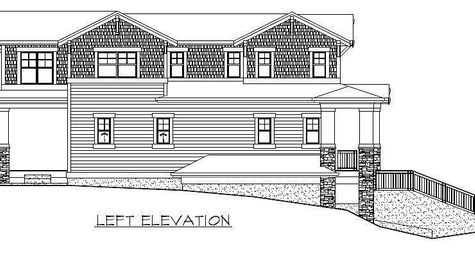 The Florence Avante Left Elevation Drawing