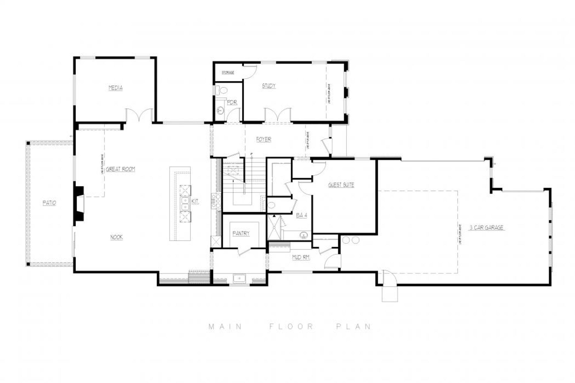 Tuscany Main Floor Plan