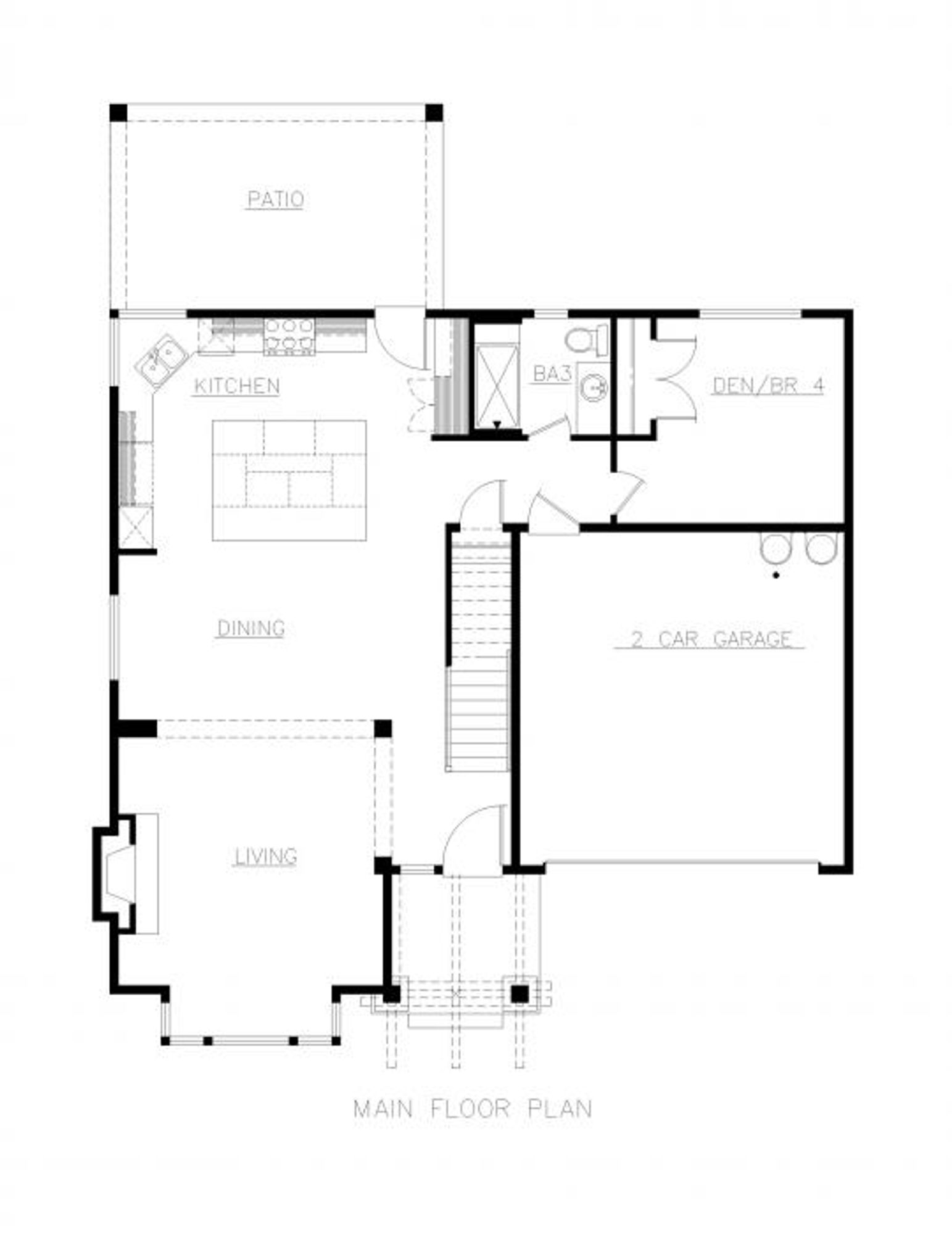 Toulouse Main Floor Plan