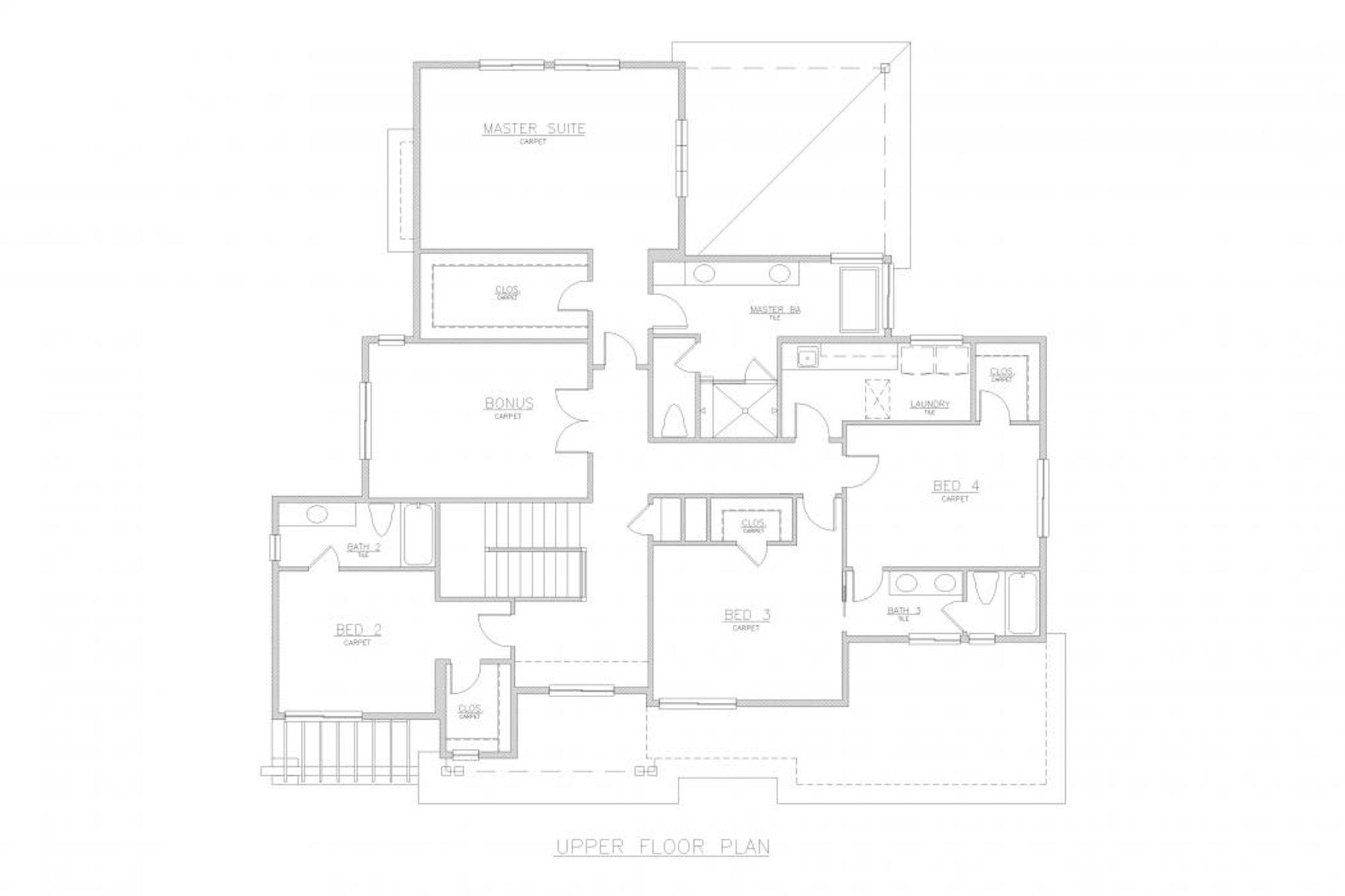 San Tropez B Upper Floor Plan