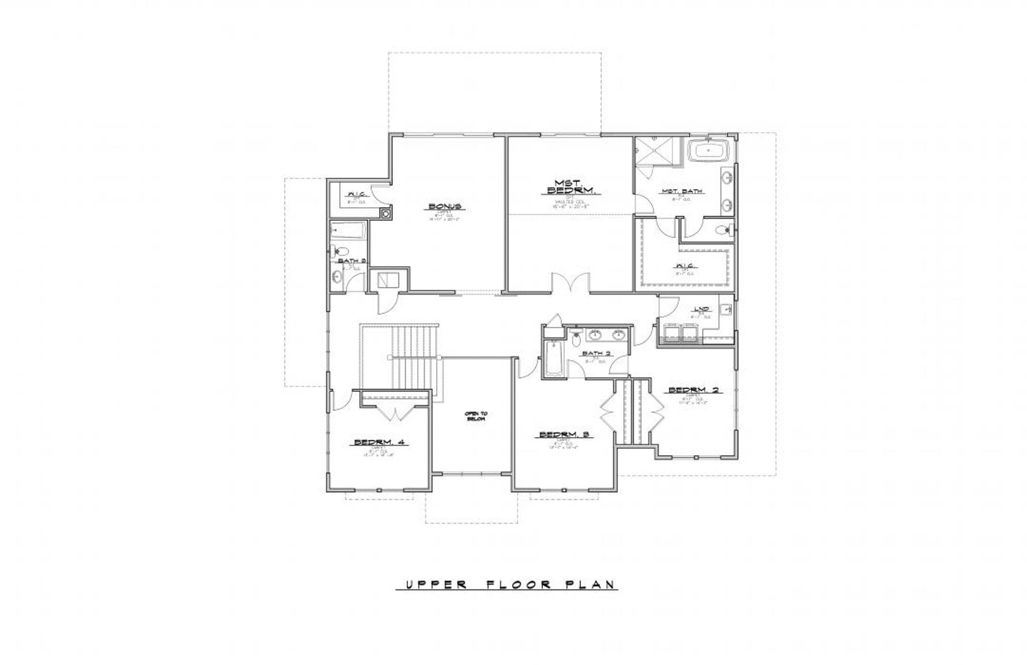 Belmont Upper Floor Plan