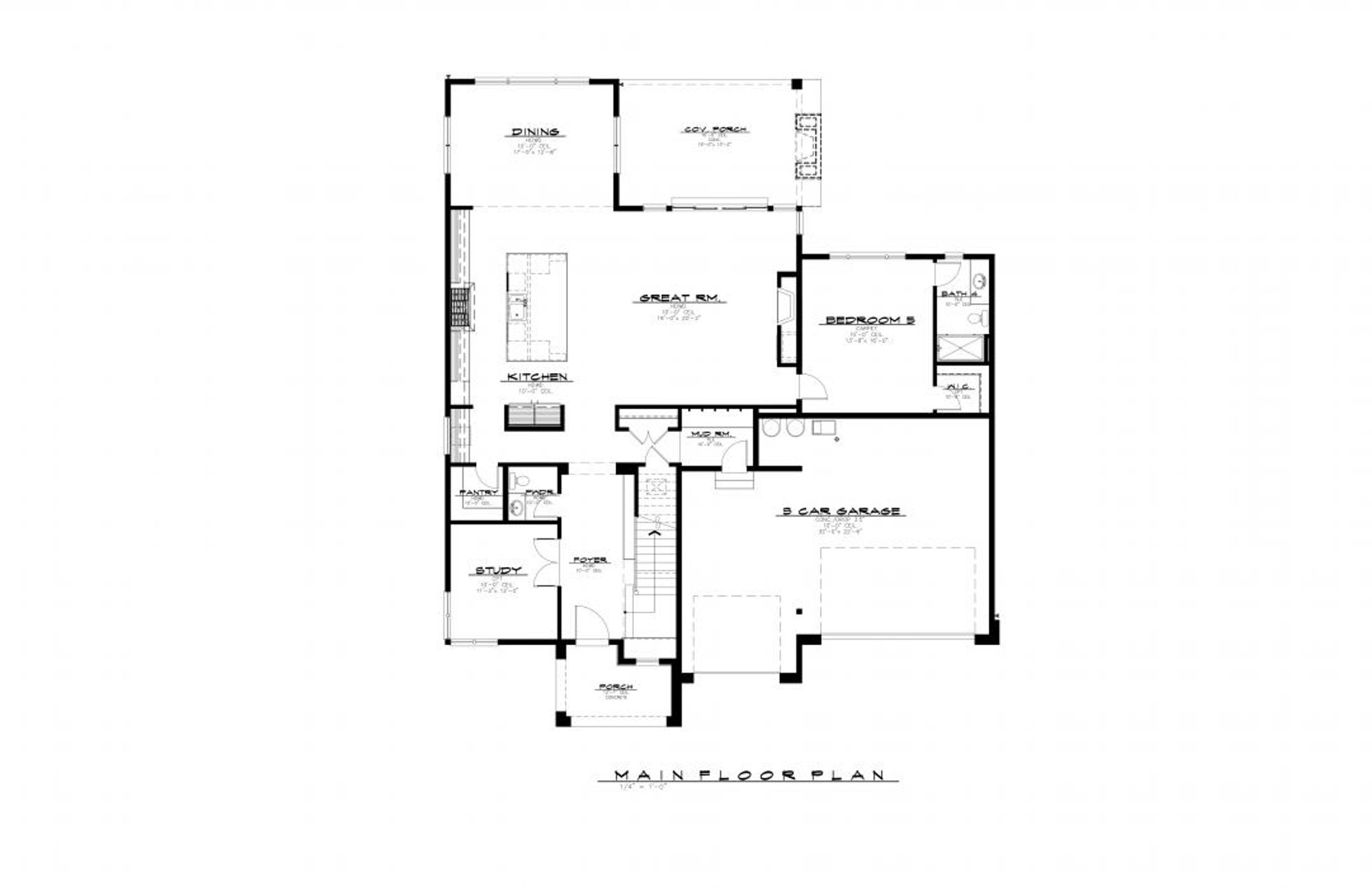 Hawthorne Main Floor Plan