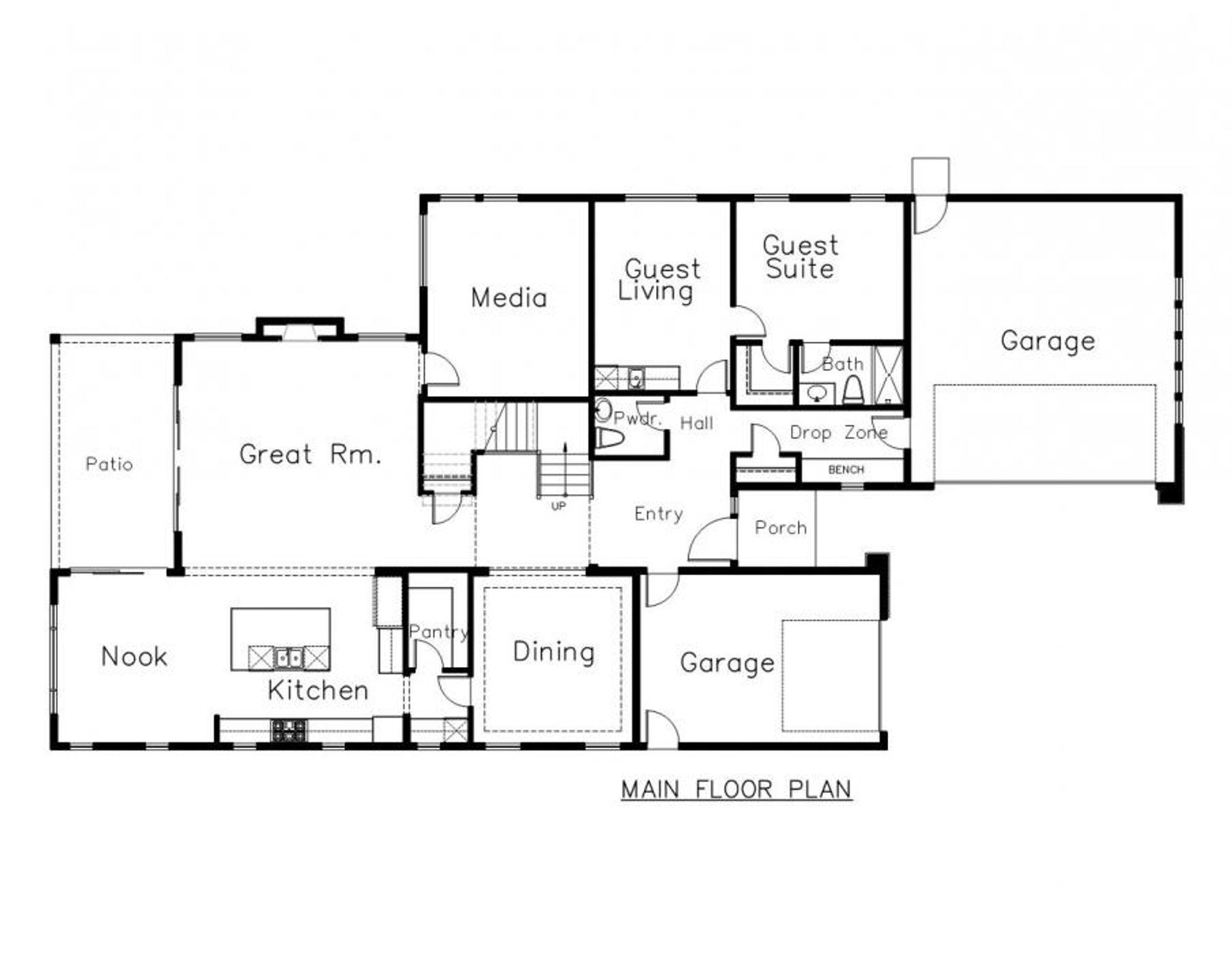 Sorrento Main Floor Plan