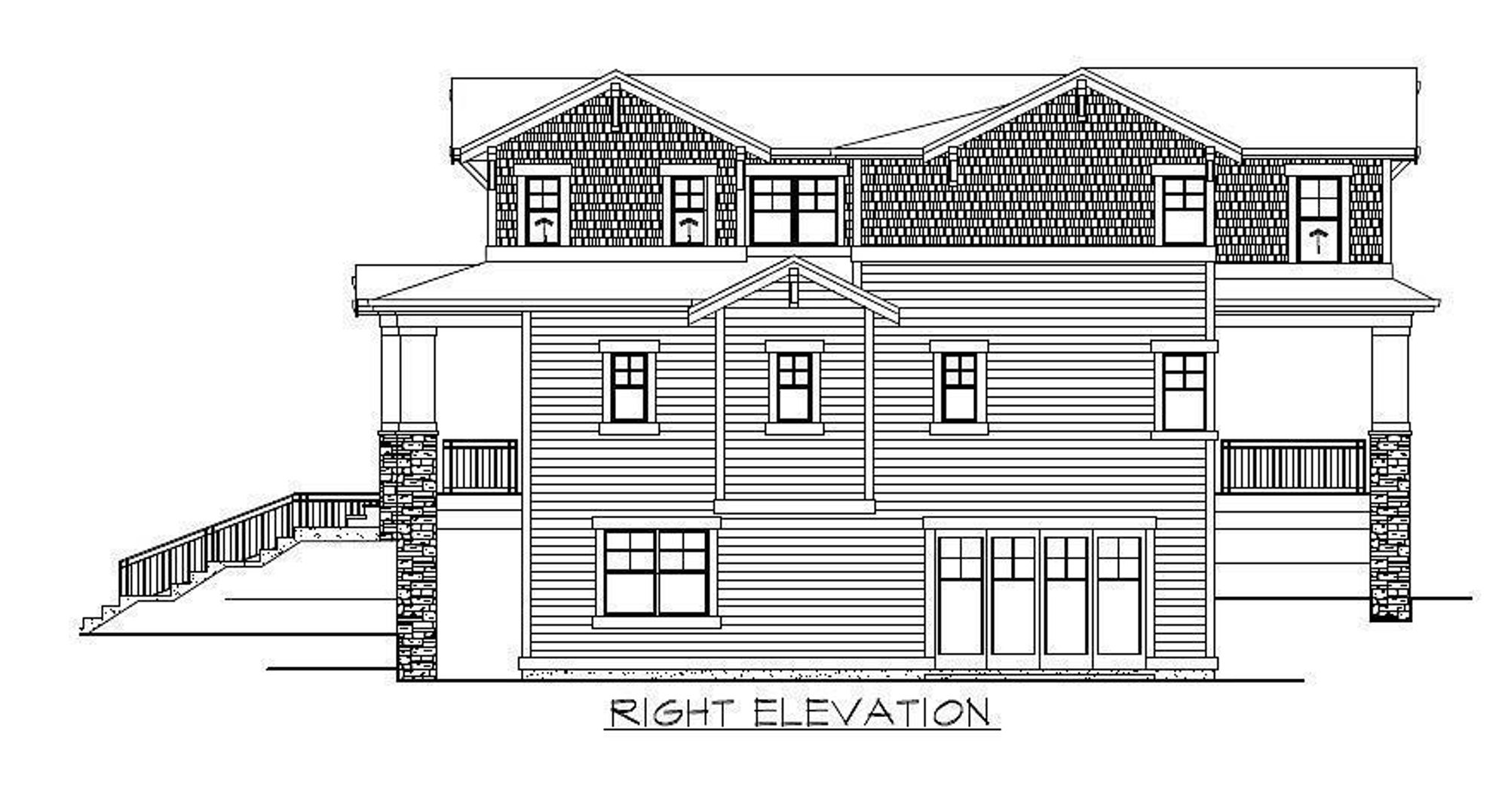 The Florence Avante Right Elevation Drawing