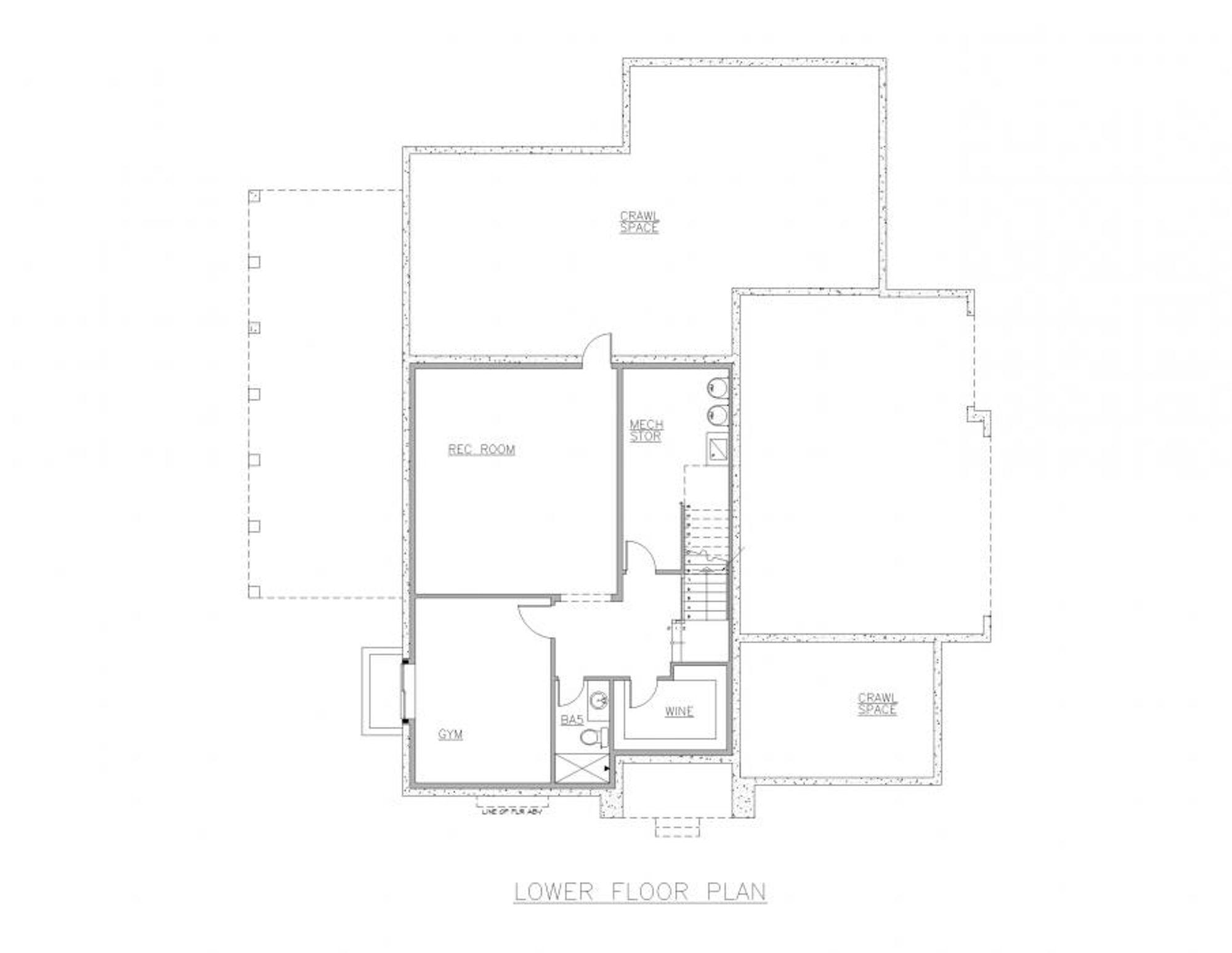 San Marino Lower Floor Plan