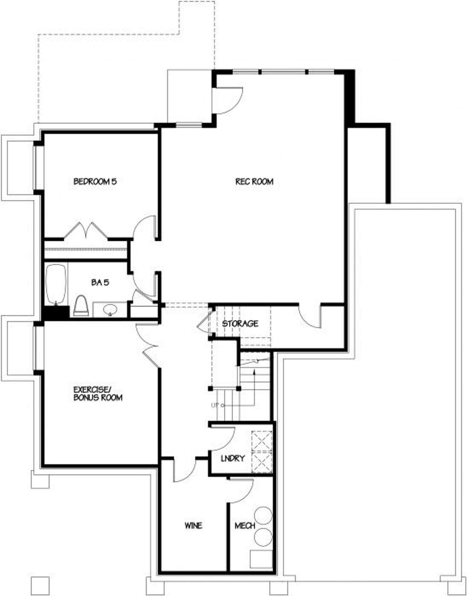 London A Lower Floor Plan