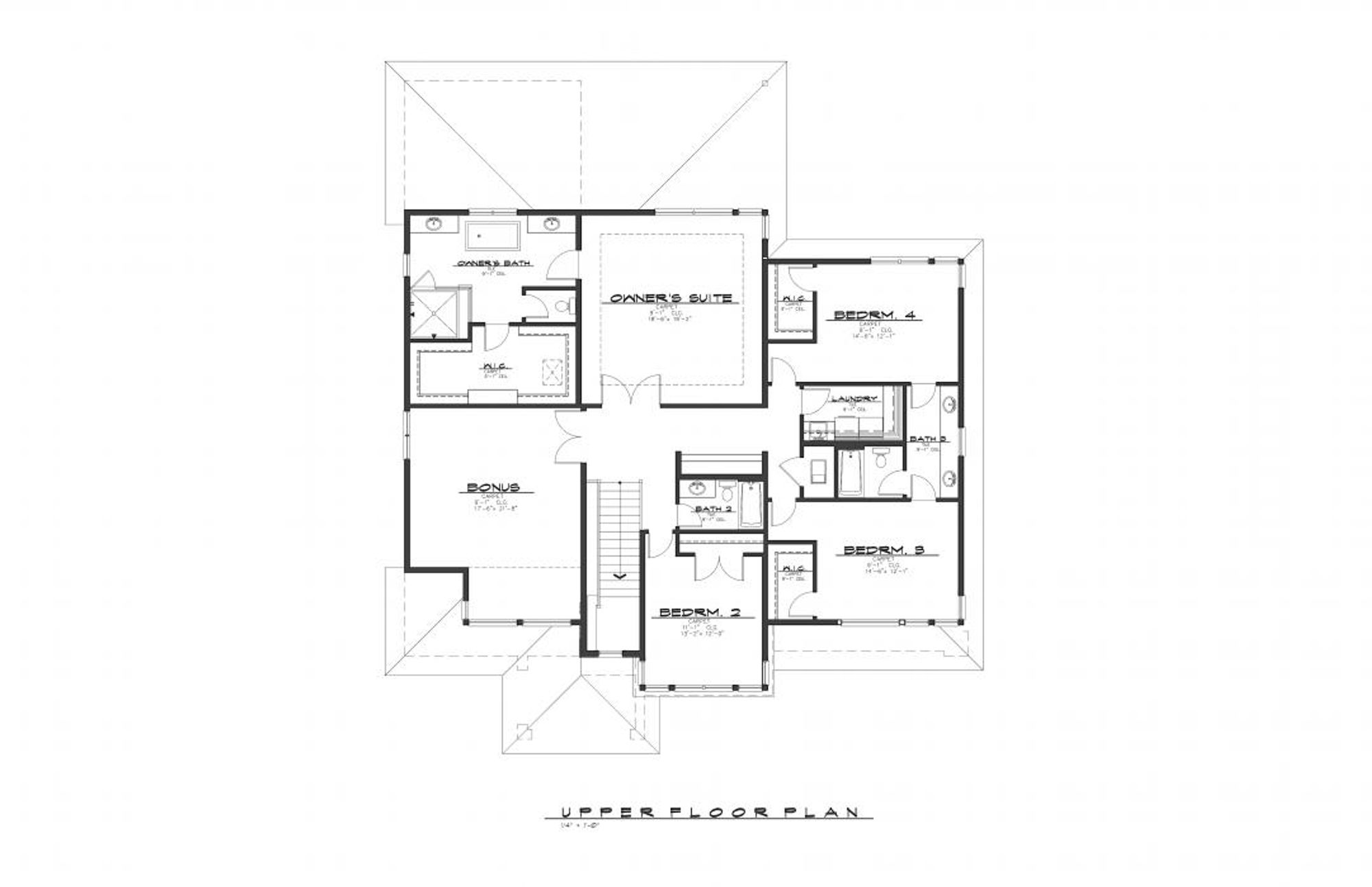 Hawthorne Upper Floor Plan