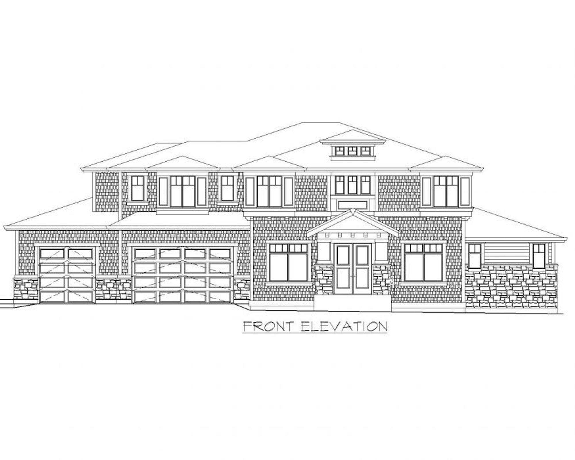 Calabria B Front Elevation