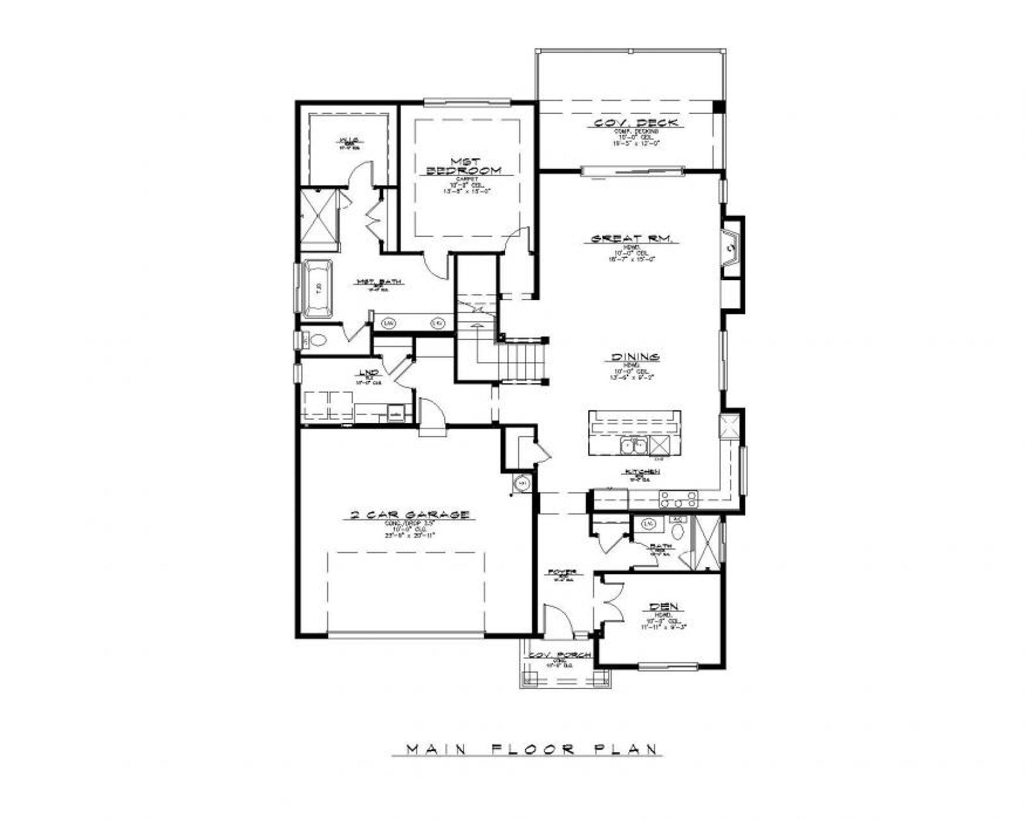 Santa Barbara Main Floor Plan