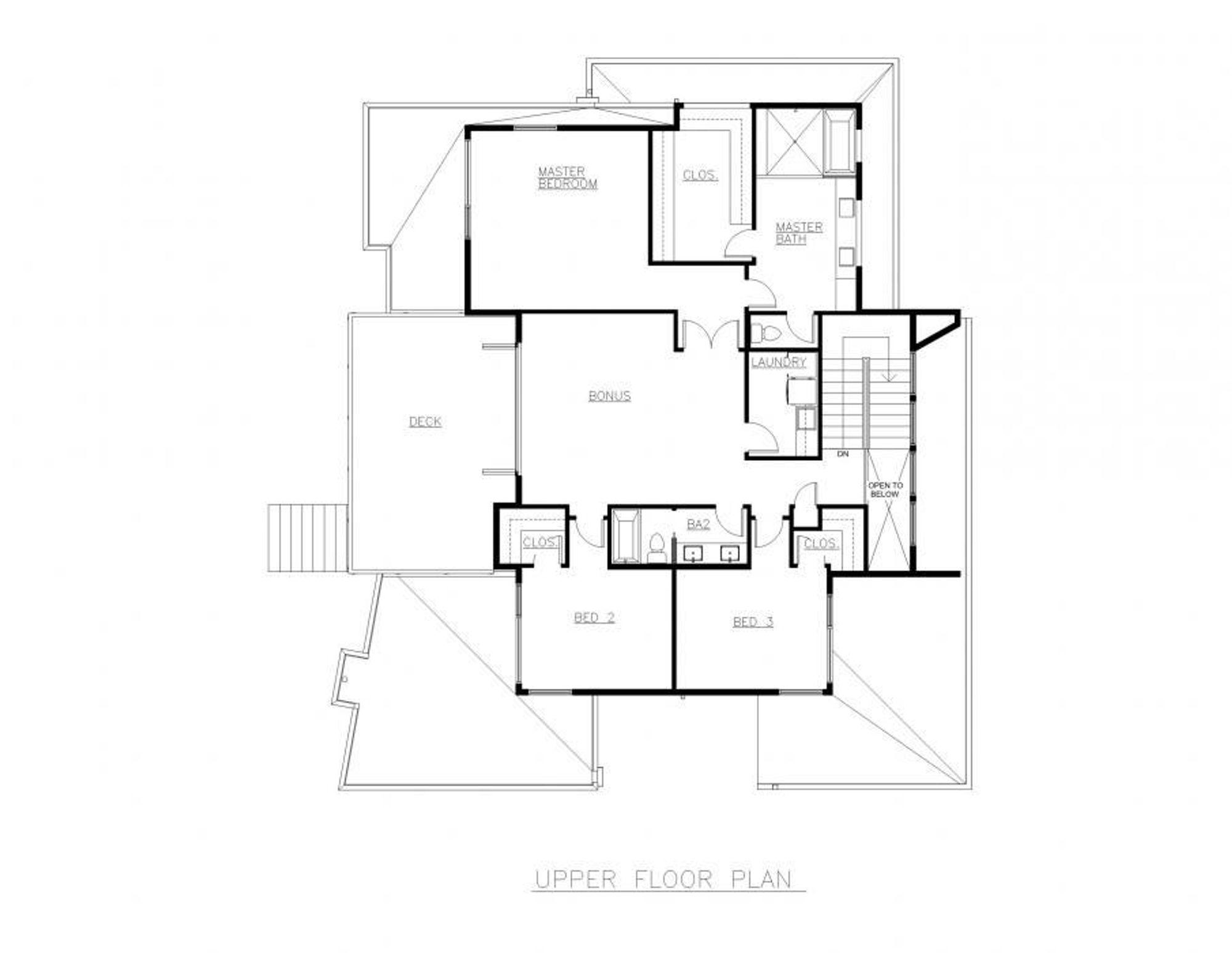 Oslo Upper Floor Plan