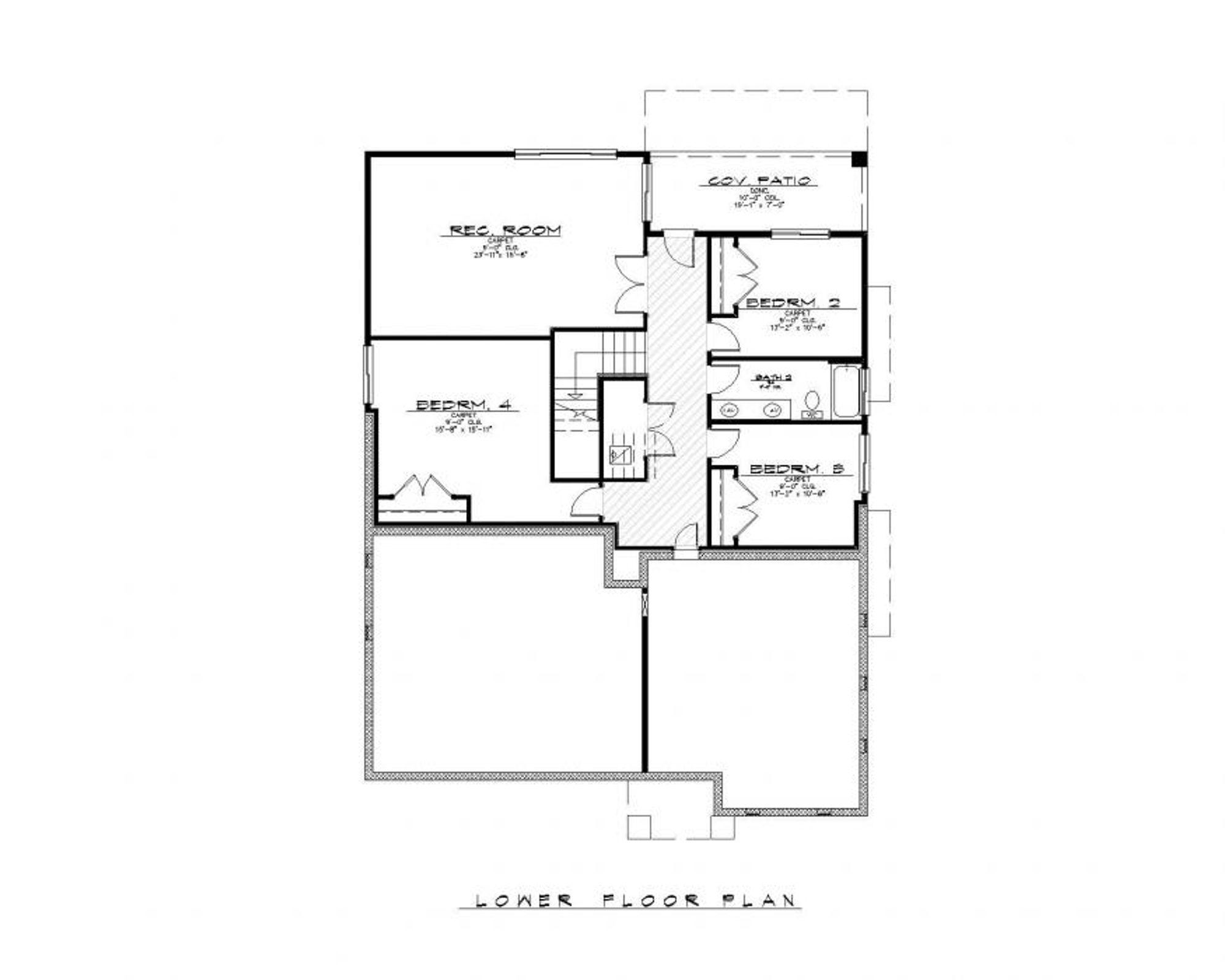 Santa Barbara Lower Floor Plan