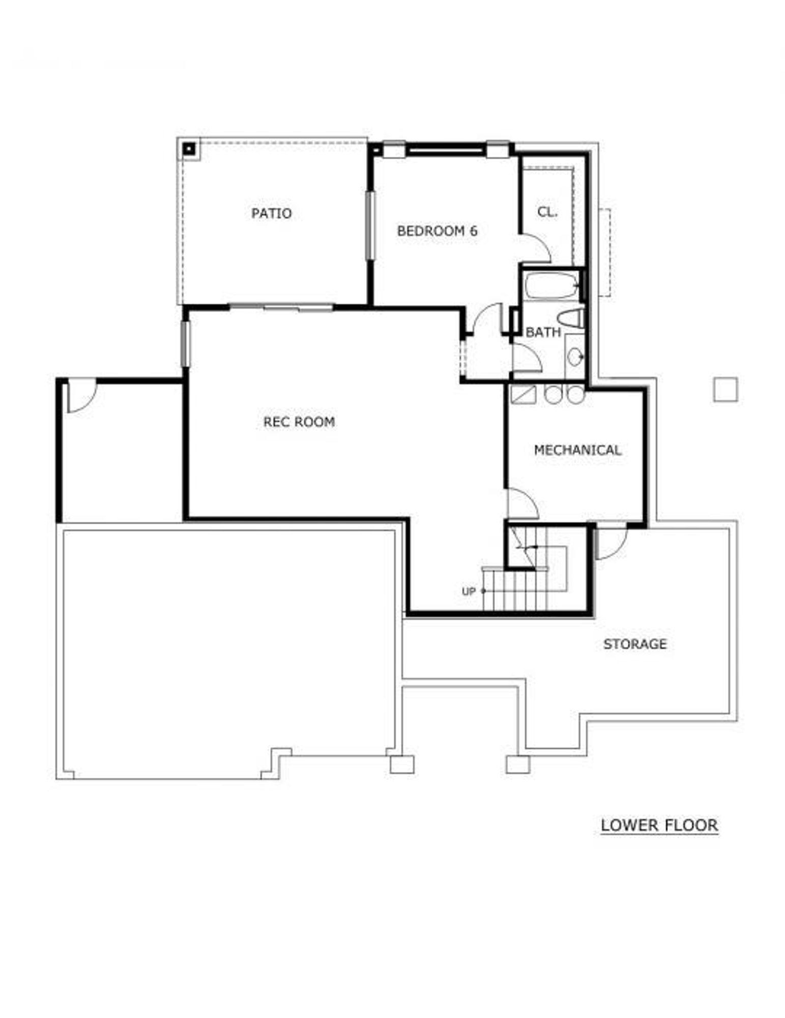 San Tropez Basement Lower Floor Plan
