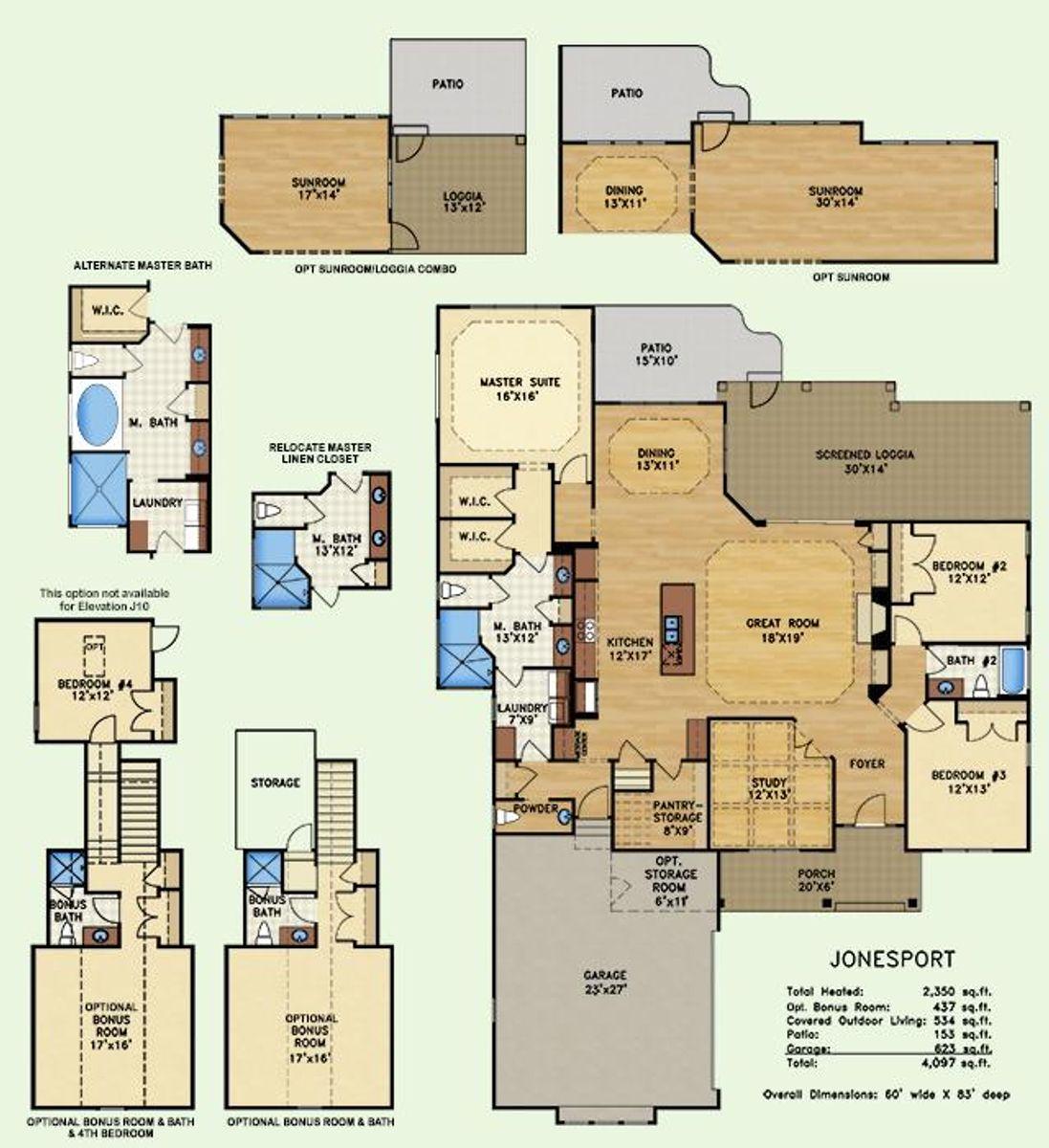 Jonesport, Floor Plan