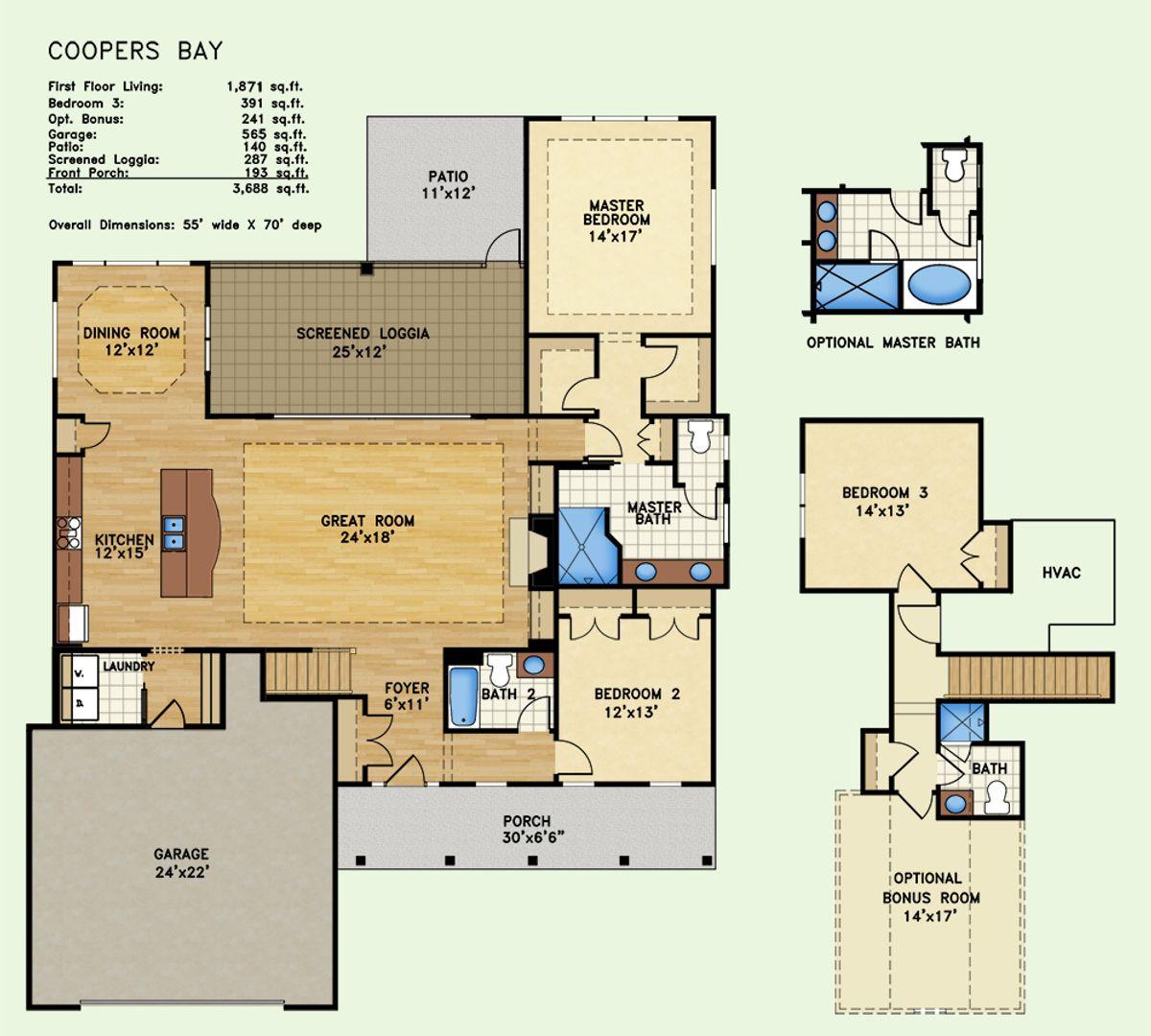 Cooper's Bay, Floor Plan