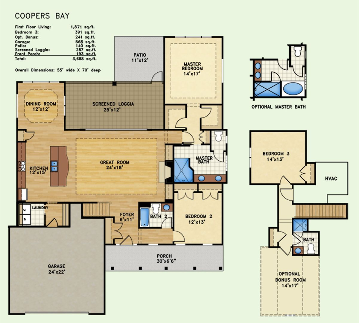 Cooper's Bay, Floor Plan