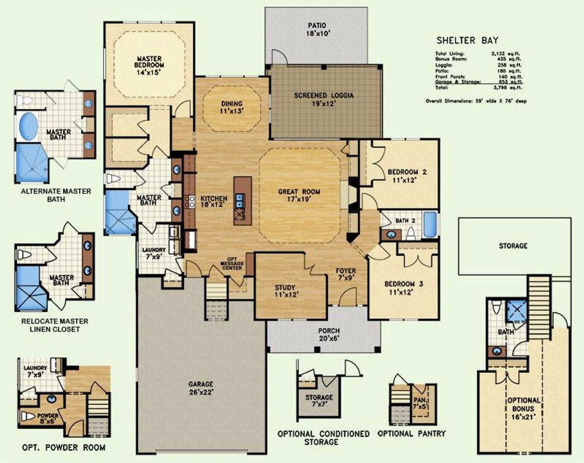 Shelter Bay, Floor Plan