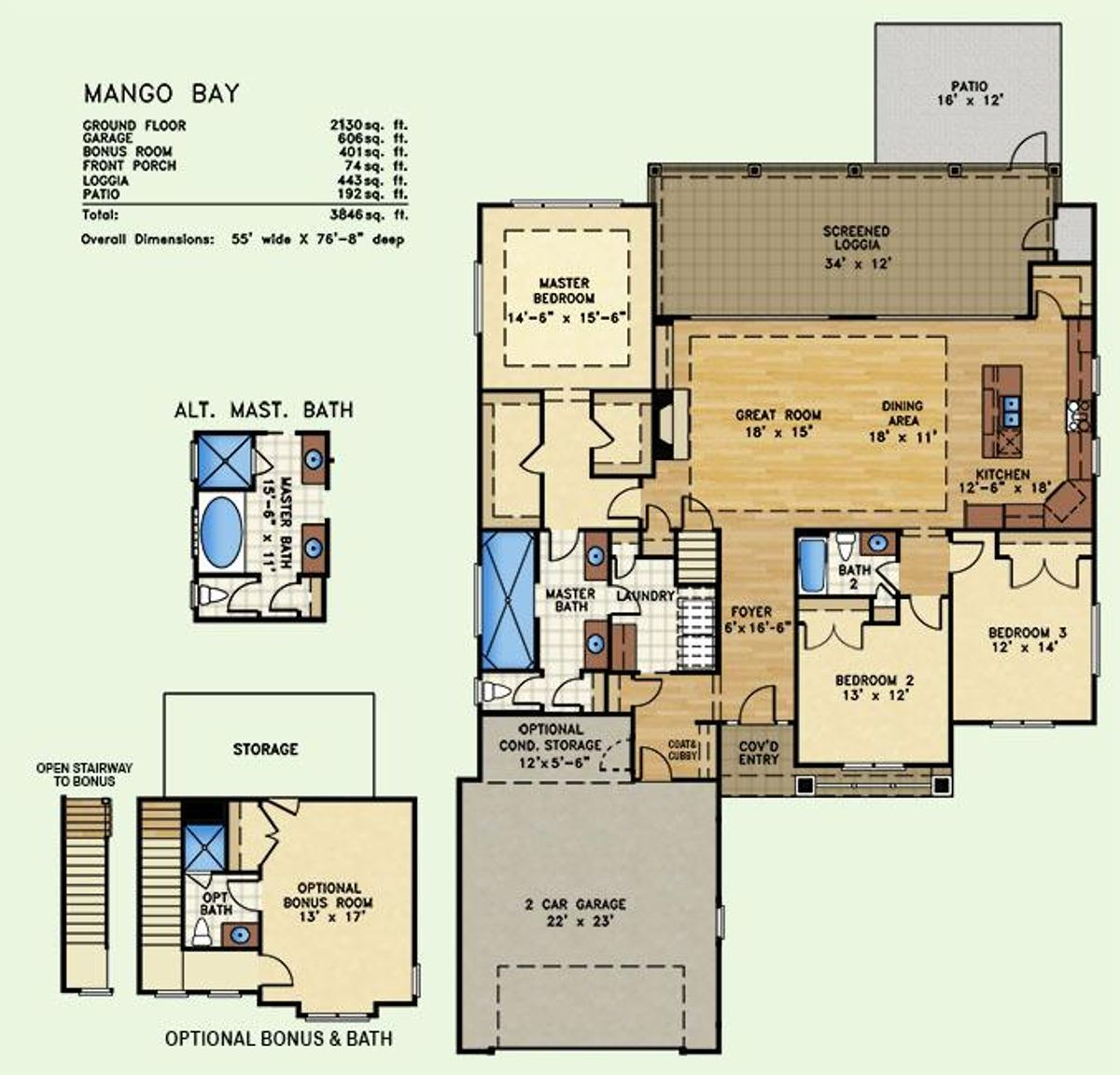 Mango Bay, Floor Plan