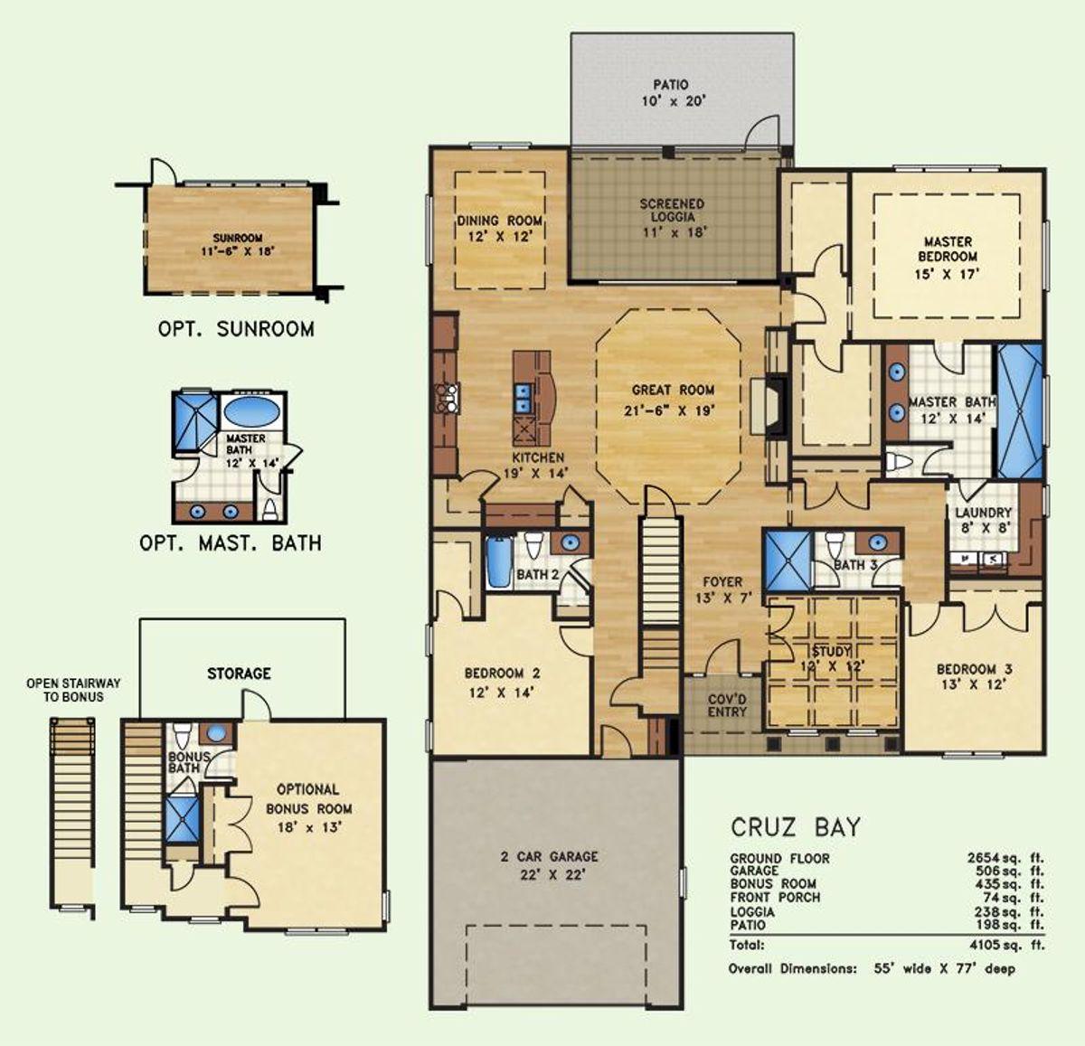 Cruz Bay, Floor Plan