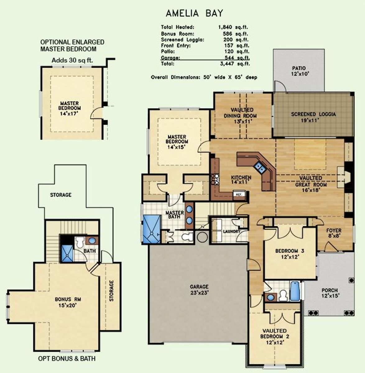 Amelia Bay, Floor Plan