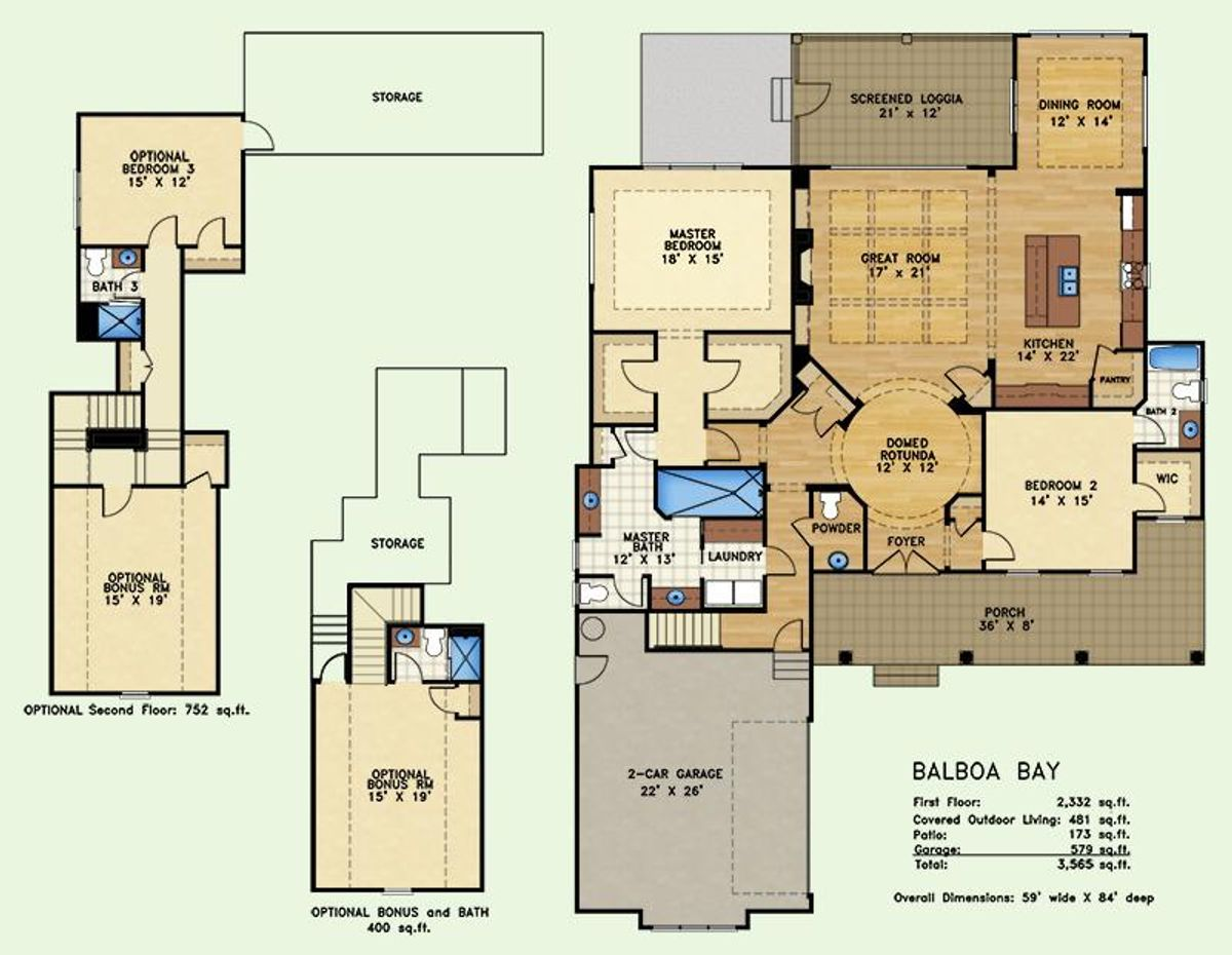 Balboa Bay, Floor Plan