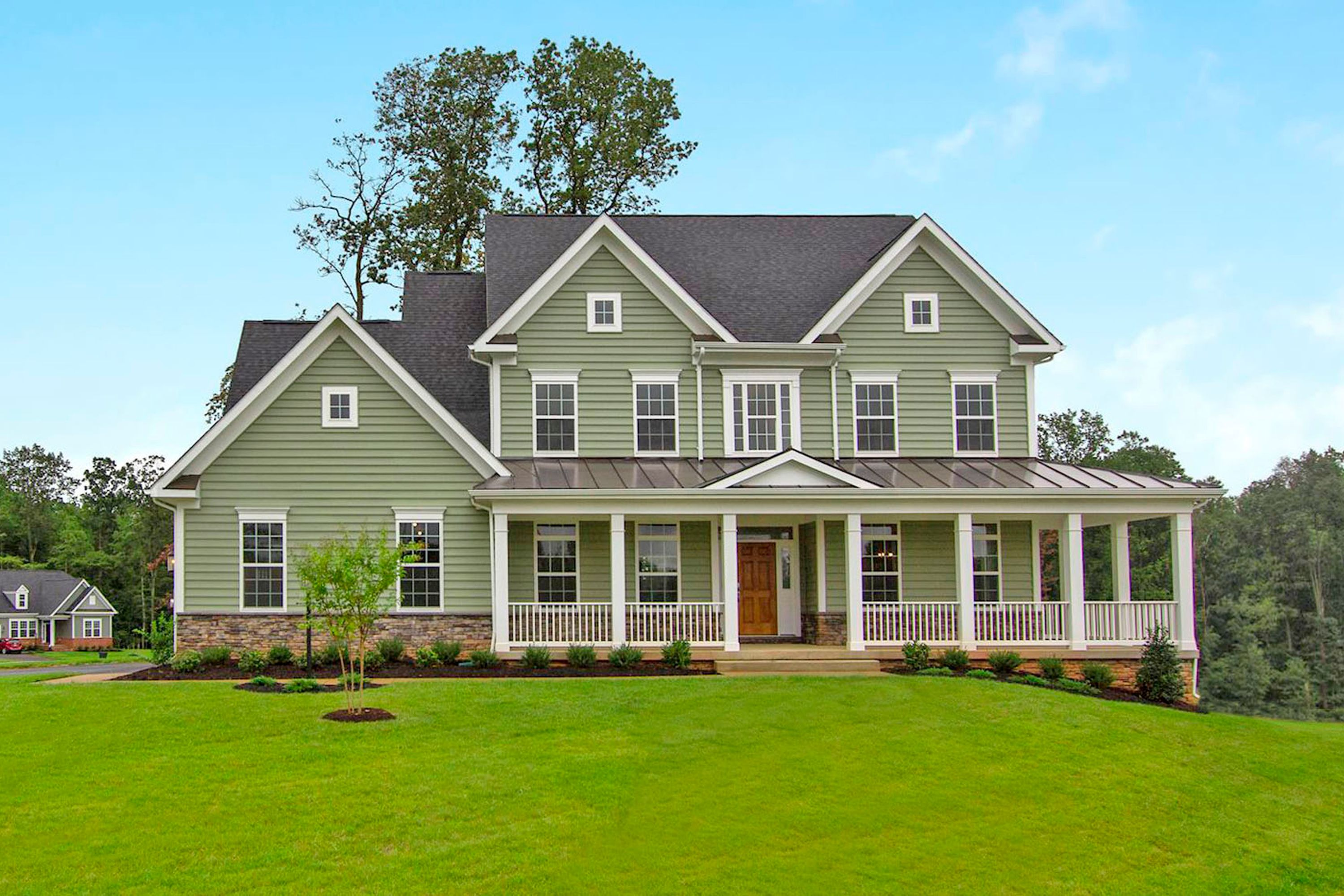 Two-story house by custom home builders in Montgomery County MD, Kettler Forlines