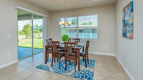 Kindred Homes Cape Coral Model Home Dining Nook