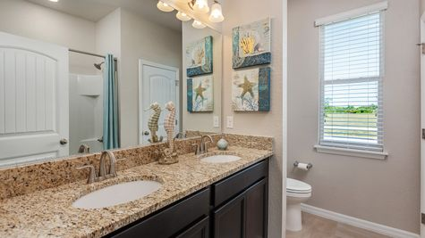 Kindred Homes Cape Coral Model Home Secondary Bathroom