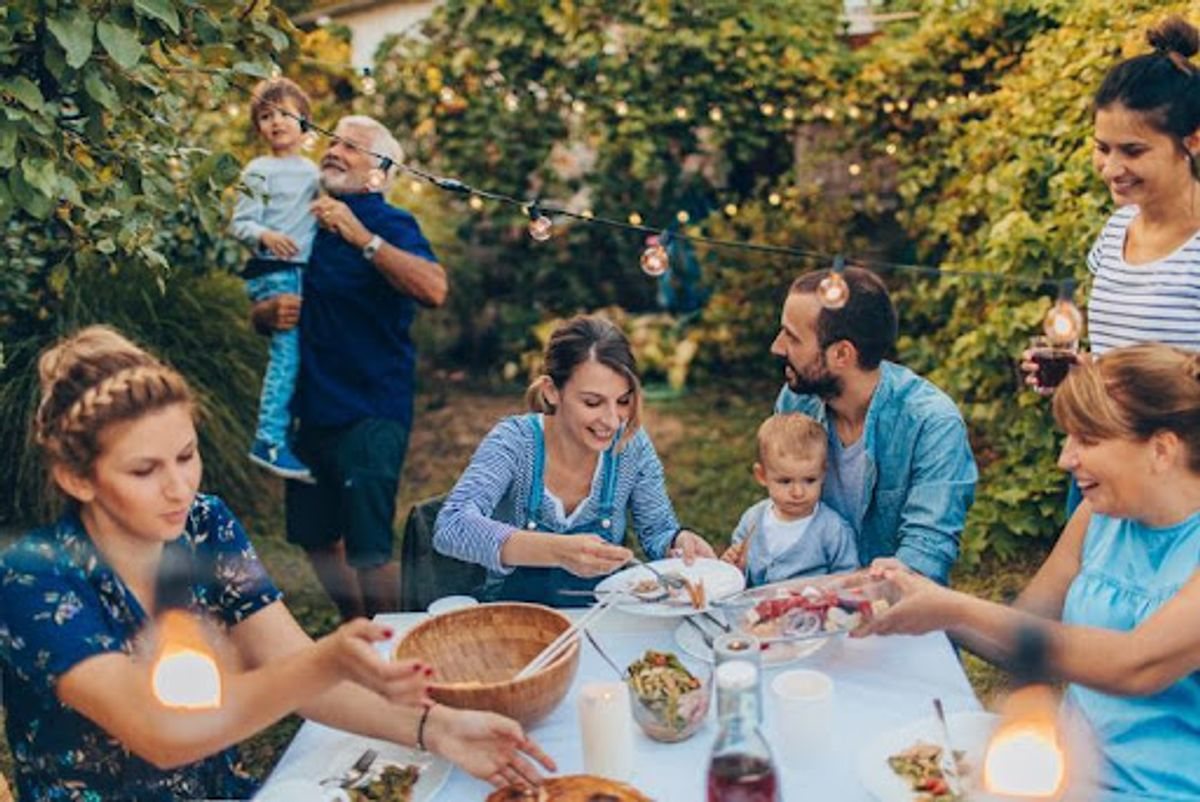 photo of family barbecue