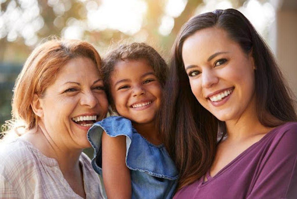 image of three women