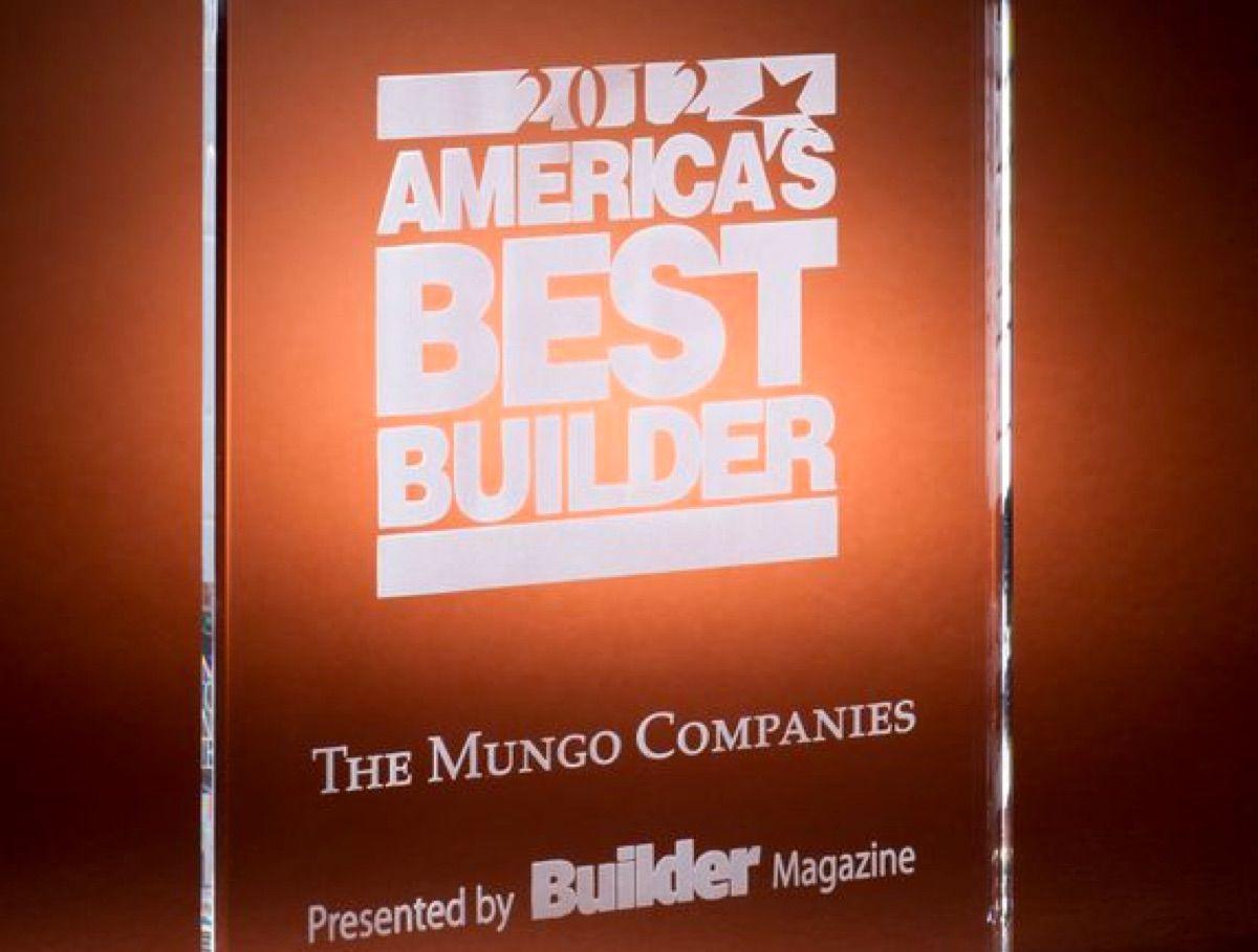 America's Best Builder 2012 award