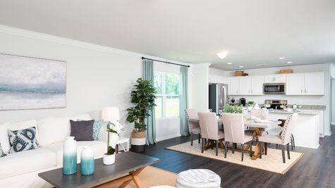 Family Room to Kitchen | Pickens Plan