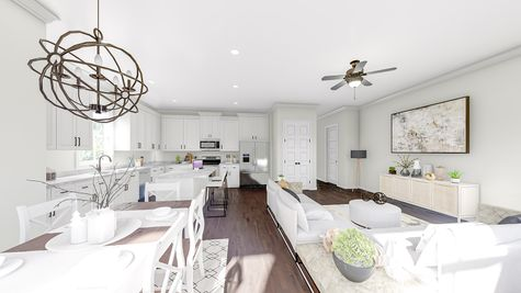 Family Room to Kitchen | Hanahan Plan
