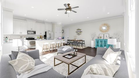 Family Room to Kitchen | Albemarle Plan