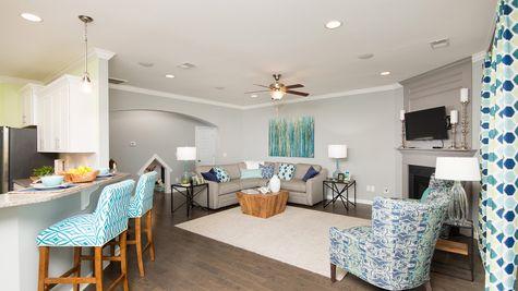 Kitchen to Family Room | Yates Plan