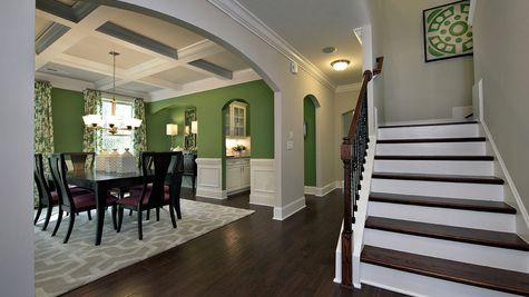 Stairs to Dining Room - Yates Plan