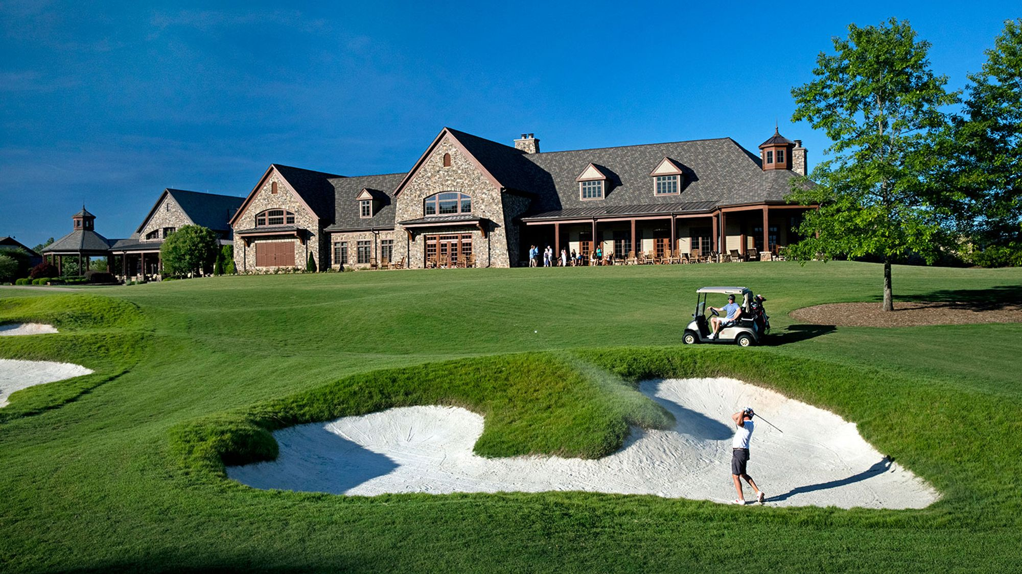Clubhouse at a new home community in Wake Forest NC