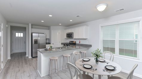 Kitchen and Family Room | Evans Plan
