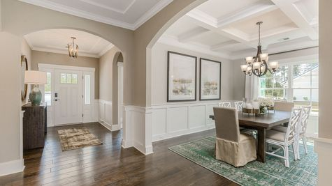 Foyer and Dining Room | Edgewood Plan