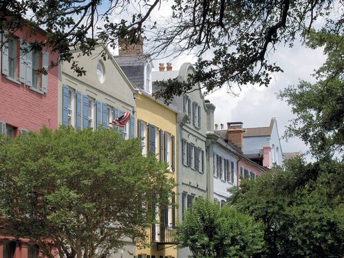 Homes in Charleston SC with bright colors