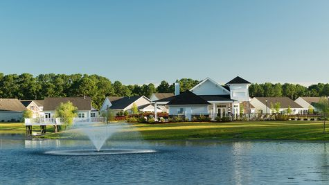 New homes and clubhouse in Cypress Bay in Little River SC