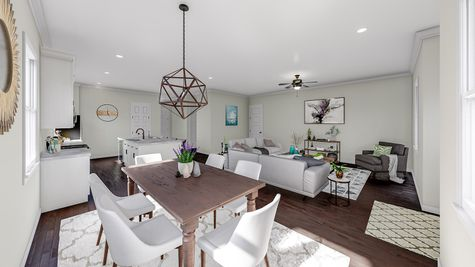 Eat-In to Family Room | Jenkins Plan