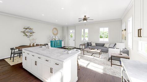 Kitchen to Family Room | Albemarle Plan